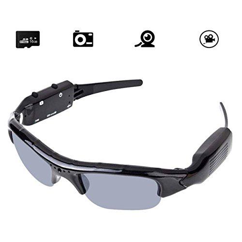 Kamera Brille Bluetoothe Forepin® 1920x1080 HD Cam Polarisierte Sonnenbrille DV Camcorder Spion Brillen mit 16GB Speicherkarte