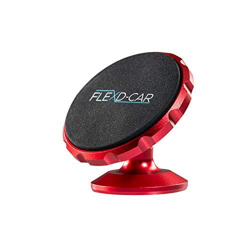 FLEXD-X Auto Handyhalterung Magnet Stark Handyhalter fürs Auto magnetisch Smartphone Halterung KFZ360° (Rot)