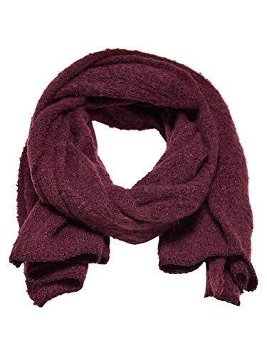 ONLY NOS Damen Schal onlLIMA Knit Long Scarf Acc NOOS, Rot (Chocolate Truffle), One Size