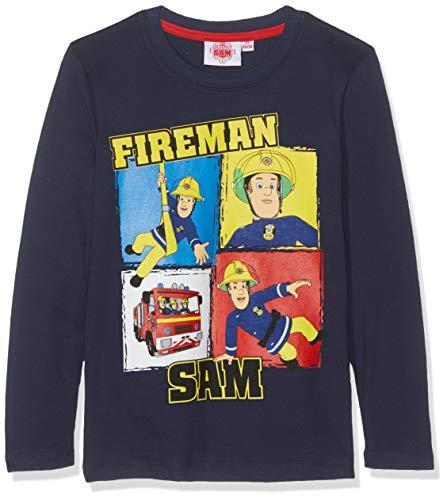 Feuerwehrmann Sam Jungen 5408 T-Shirt, Blau Bleu Marine, 6 Jahre