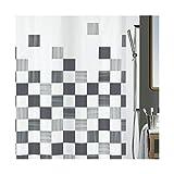 Spirella Duschvorhang Textil Part grey, vers. Größen 120 x 200 cm