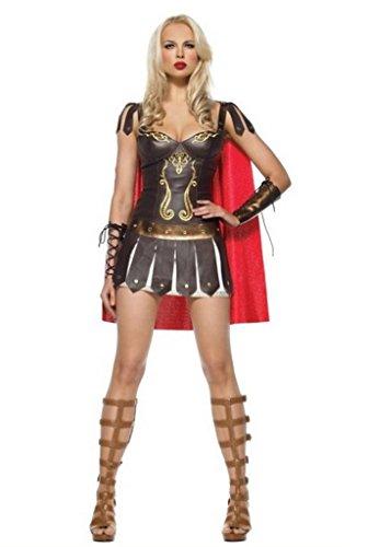 Griechische Kostüme Fancy Dress Römische (Aimerfeel sexy Damen Kriegers-griechisches römischen Gladiator fancy dress Größe)