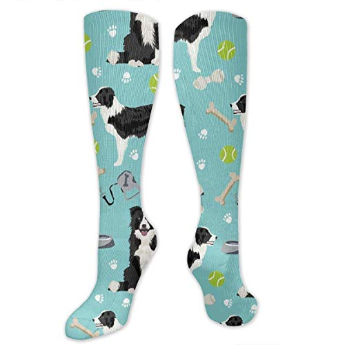 Jxrodekz Border Collie Tennis Balls Graduated Compression Socks for Men & Women Best Stockings for Nurses,Travel,Running,Maternity Pregnancy