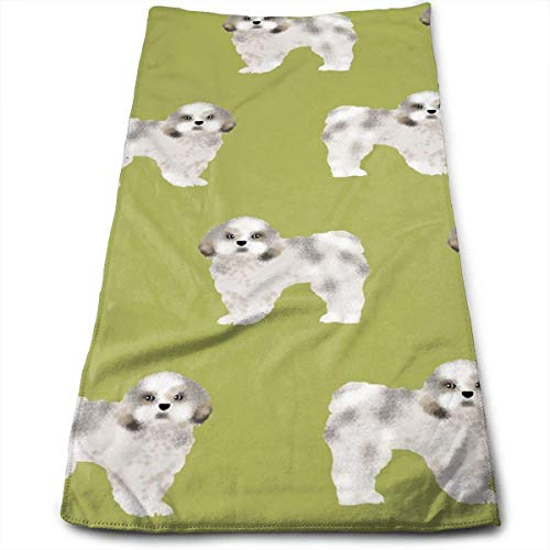 ewtretr Asciugamani Viso-Mani,Shih Tzu Fabric Lime Cute Dog Fabric Toy Cool Towel Beach Towel Instant Gym Quick Dry Towel Microfibre Towel Cooling Sports Towel for Golf Swimming Yago Garden Holiday