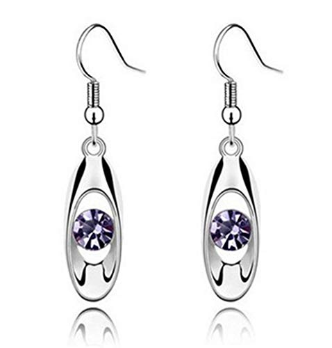 Zqword orecchini pendenti in argento sterling con pendenti in cristallo orecchini pendenti in argento,3