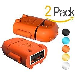 Act Adaptador OTG compacto Micro USB (B) macho a USB (A) hembra - color naranja
