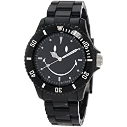 "Smiley ""Happy Time"" Men's Smiley Original Black Analogue Watch WGS-SOBV01"
