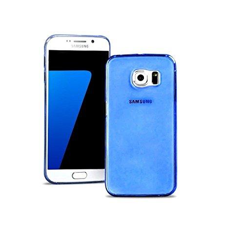 GiXa Technology TPU Silikon Case Ultra Dünn, Elastisch und Rutschfest für Samsung Handy Smartphone. Silikon Schale Schutz Hülle Back Cover Lebenslang Garantie… (Klar / Farblos, für Galaxy Alpha / SM-G Blau / Blue