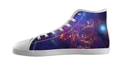 Dalliy Galaxie Katze Galaxy Cat Men's Canvas shoes Schuhe Lace-up High-top Footwear Sneakers Segeltuchschuhe E