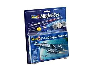 Revell - Maqueta Modelo Set F-14D Super Tomcat, Escala 1:144 (64049)