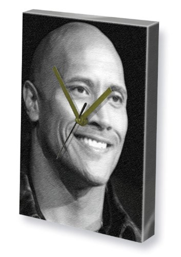 Uhren Johnson (DWAYNE JOHNSON - Canvas Clock (A4 - Signed by the Artist) #js002)