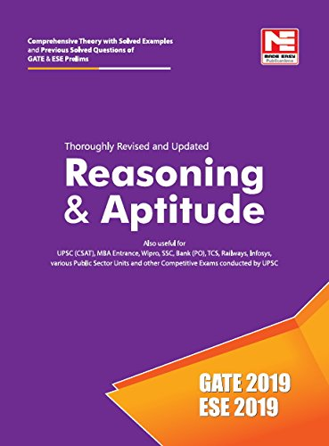 Reasoning & Aptitude for GATE & ESE (Prelims) 2019 - Theory and Previous  Year Solved Questions