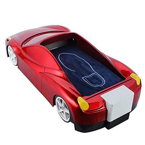 FHTDX Automatische Schuhabdeckung Nachahmung Sport Auto Hohe Kapazität Büro Haushalt Fußmaschine Einweg Schuhform Maschine + 200 Überschuhe Protektoren,Red,40 * 21 * 12CM