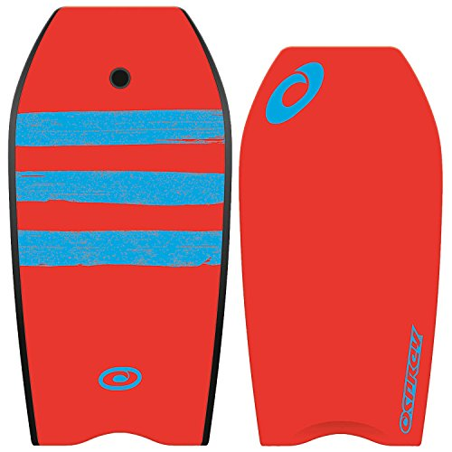 Osprey Bodyboard XPE Stripe, Blockstreifen, mit Leine, XPE-Board, Crescent-Tail, uni, XPE Stripe, rot