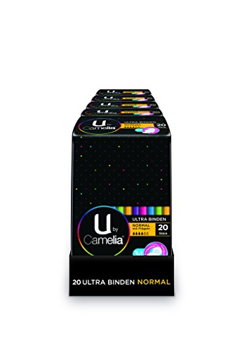 U by Camelia Ultra Binden Normal mit Flügeln, 5er Pack (5 x 20 Stück)