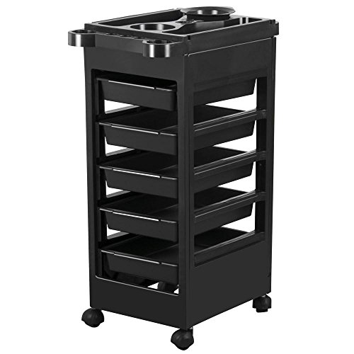 Yaheetech Salon Hairdresser Barber Beauty Storage Trolley Hair Drawers Roller Cart Spa