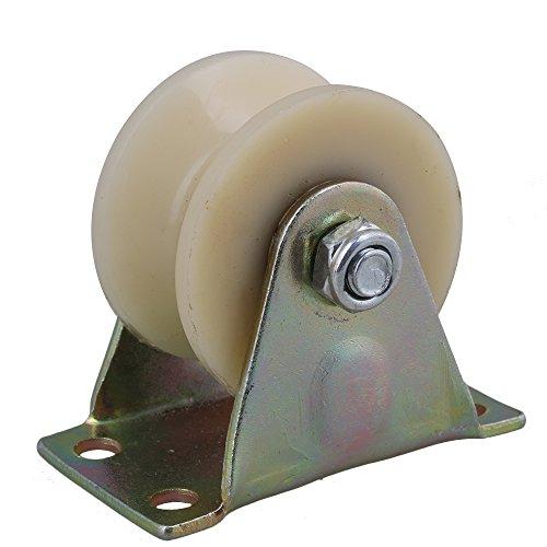 cnbtr 5,1 cm Dia Beige 45 # Stahl Nylon Groove Track Roller starr Caster Rad für industrielle Maschinen Carts 150 kg