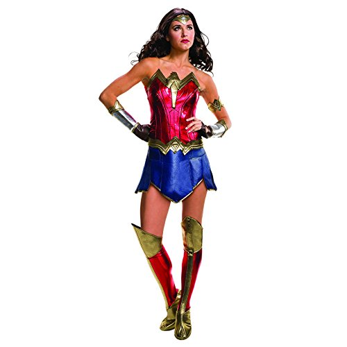 Wonder Woman Damen Kostüm 6tlg Batman v Superman rot DC Comics rot blau - (Kostüme Damen Supergirl)