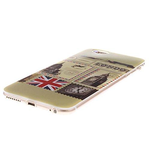 "Hülle für Apple iPhone 6 Plus 6S Plus 5.5"" Handyhülle Dünn Stil Licht Flexibel TPU Gel Case Bumper Malerei Muster Schwarz Löwe Farbe-10"