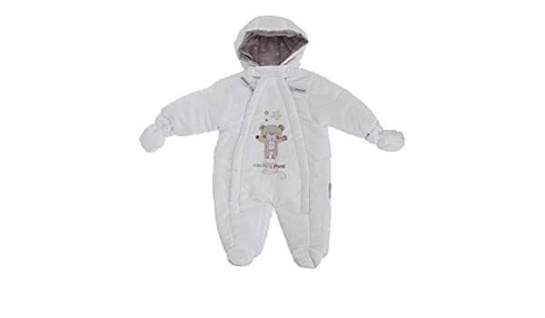 6940ff722 Baby Unisex Teddy Bear Catching Stars All In One Hooded Winter Snowsuit  (Newborn) (White): Amazon.co.uk: Baby