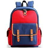 Zmsdt British Style Student Bag Grundschulkinder Koreanische Version der Burden Reduction Boys und Girls Backpack (Farbe : Red, größe : Large)