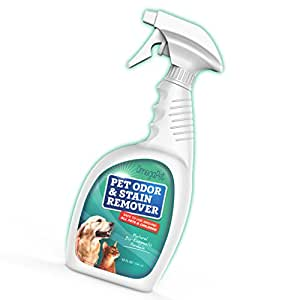 Urine Smell Remover - Enzyme Powered Odour Cleaner Gets Dog and Cat Urine Off - Carpet Cleaner + Pet Stain Remover - Delightful Linen Fresh Scent