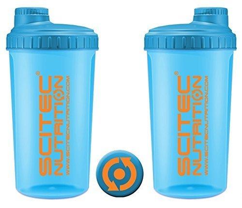 Scitec nutrition shaker, 700ml, neon blue
