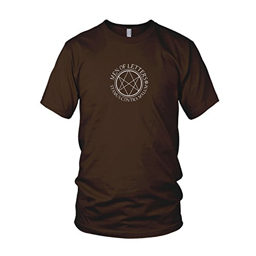 Men of Letters - Herren T-Shirt Braun