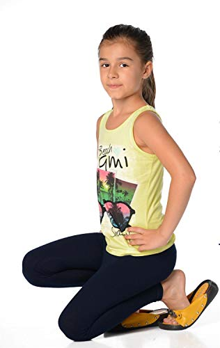 Mädchen Kinder Leggings in 23 Farben Baumwolle, Gr. 92 bis 158 cm, p902 Dunkelblau 128 -