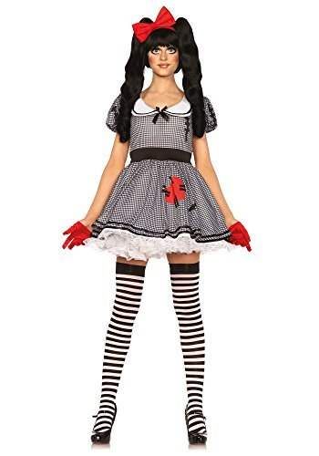 Leg Avenue Wind-Up Doll Costume (X-Small, Black/White) by Leg (Costume Doll Up Wind)