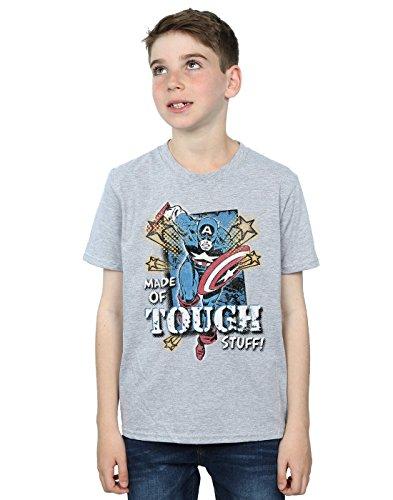 Marvel Jungen Captain America Made of Tough Stuff T-Shirt Sport Grau 9-11 Years