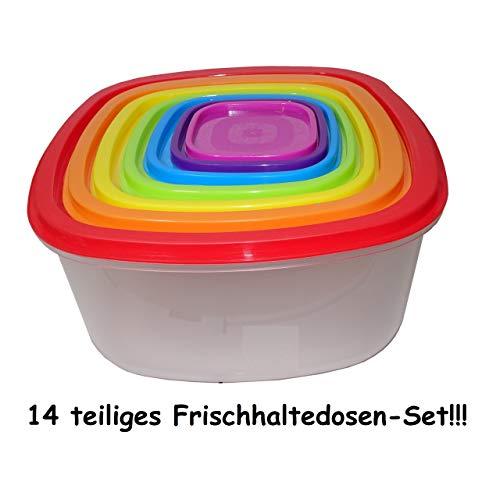 14tlg. Vorratsdosen Set Frischhaltedosen Aufbewahrung Box Dose mit Deckel Kunststoff
