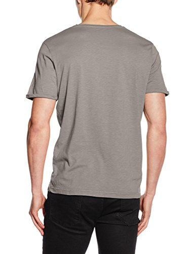 TOM TAILOR Herren T-Shirt Colour Gradient Print Tee Grau (titanium grey 2624)