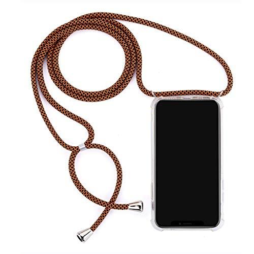 W-Y Mit Seil Vier Ecken Anti-Drop-Handy-Shell TPU transparent für Apple XSiphone8XR7plus Schutzhülle,05,iPhoneX/XS -