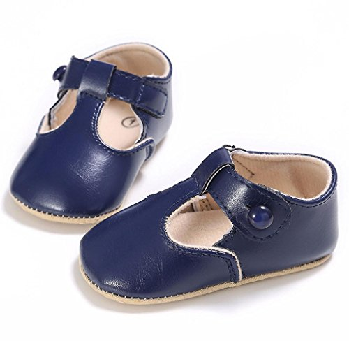 Rutschfest Leder Schuhe Kleinkind Weiche Covermason Blau Krippe Sohle Baby Neugeborene 7wqxUU