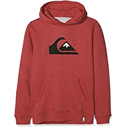 Quiksilver Big Logo Sweat Garçon, Brick Red Heather, FR : XL (Taille Fabricant : XL/16)