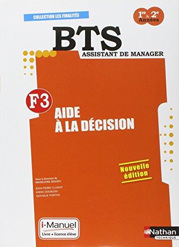Finalité 3 - Aide à la décision BTS 1re et 2e années