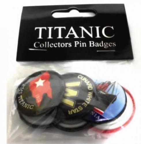 Irish Shopper M R. .S. Titanic Sammler Buttons Belfast, 6 Stück -