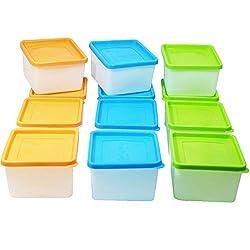 12 oder 6 Stück Tiefkühldosen inkl. Gefrieretiketten Gefrierdosen zum Einfrieren - Frischhaltedosen stapelbar - Vorratsdosen zum Einfrieren und Auftauen - Mikrowellendosen - 0,5 Liter - 0,7 Liter - 1,0 Liter - 1,2 Liter (12 x 0,7 Liter)