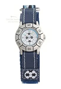 Kids/Teens/Boys Blue Velcro Football Watch 52