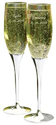 Hortense B. Hewitt Wedding Accessories Harmony Champagne Toasting Flutes, Set of 2