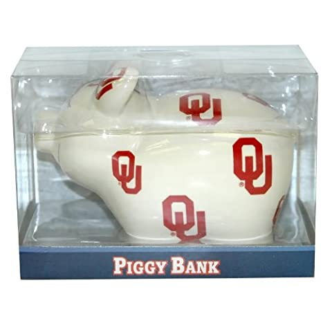 NCAA Oklahoma Sooners Piggy Bank with All Over