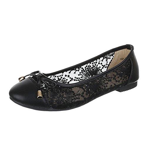 Ital-Design, HH de 39, Ballerines luftig légère Noir - Noir