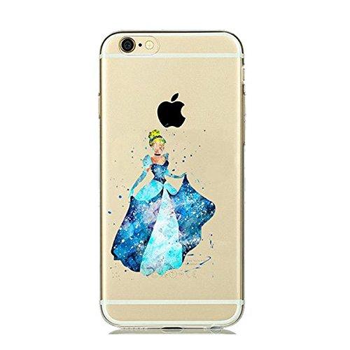 Disney Cinderella Princess Schutzhülle Appel Iphone Serie TPU transparent Silikon Case Appel Iphone 6/6S Comic Cartoon Hülle -AcAccessoires #0021 (Iphone 6/6S)