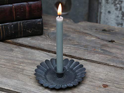 2er Set Kerzenhalter Kerzenständer Kammerleuchter für Mini Stabkerzen Landhaus Shabby Nostalgie Chic Antique