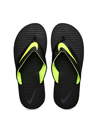 Nike Men's Chroma Thong 5 Black/Volt – Dark Grey Flip Flops (833808-013)