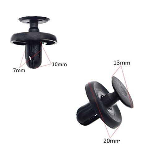 Muchkey 10 x Clips Agrafe Plastique – For Toyota 7mm – Passage de Roues / Garnissages / Habillage – LIVRAISON GRATUITE!