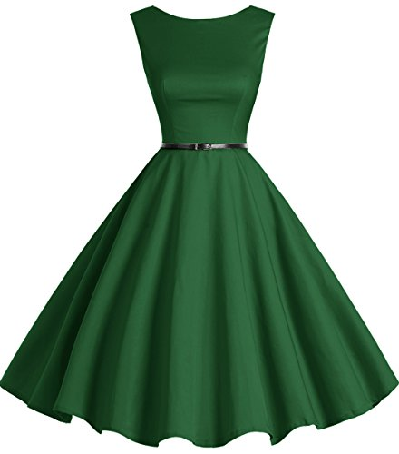 Bbonlinedress 50s Retro Schwingen Vintage Rockabilly kleid Faltenrock Green 3XL