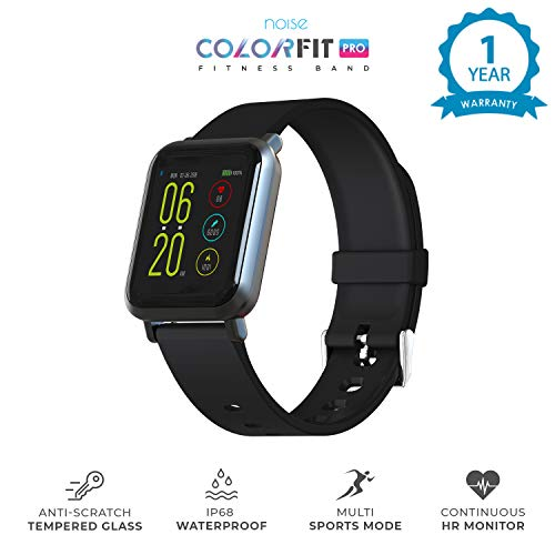 Noise Wider Screen Colored Display Silicone Fitness Band and Activity Tracker ColorFit Pro with Pedometer, Heart Rate Sensor, Blood Pressure Monitor