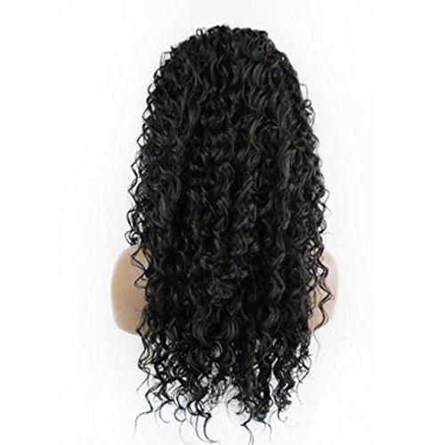 DRESS_start Damen Lockige PerückeGlueless volle Spitze Perücken Schwarze Frauen Indischer Remy Menschliches Haar Spitze vorne Cosplay Perücke Perücken Perückenständer Schwarz